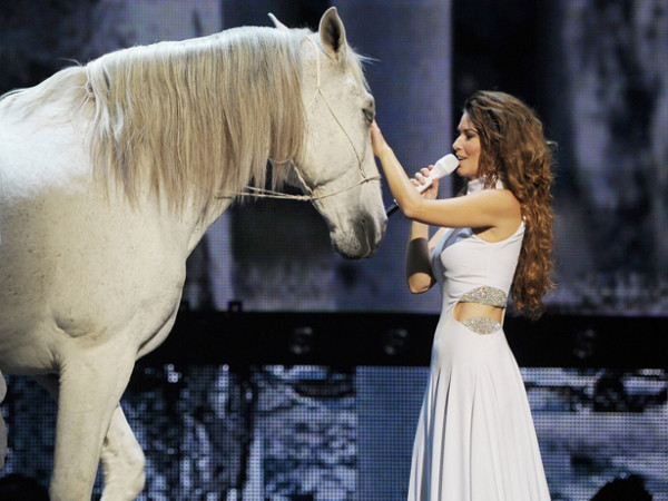 Shania Twain and White Horse in Las Vegas