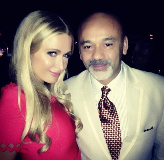 Paris Hilton, Christian Loboutin in Cannes