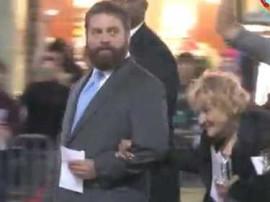 Hangover 3 Premiere: Zach Galifianakis & Mimi Haist