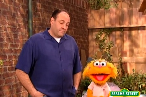 James Gandolfini on Sesame Street