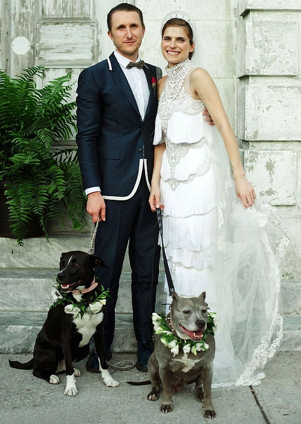 Lake Bell and Scott Campbell Wed