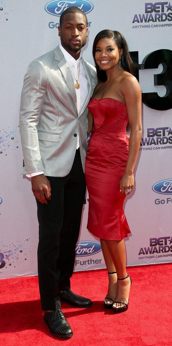 Gabrielle Union and Dwyane Wade at the 2013 BET Awards