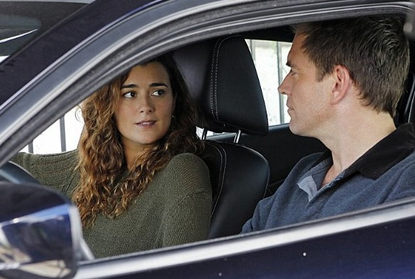 Cote de Pablo and Michael Weatherly in NCIS