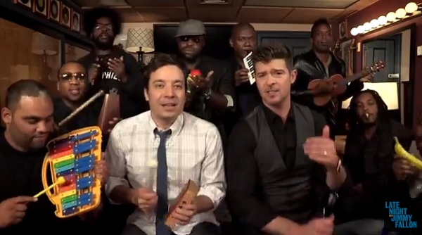 Jimmy Fallon & Robin Thicke do Blurred Lines