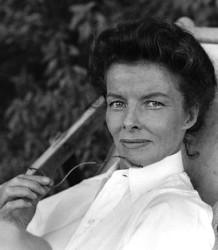 """Katharine Hepburn on the set of """"The African Queen,"""" circa 1951"""