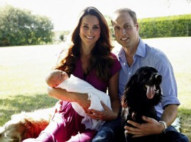 William, Kate and Baby George