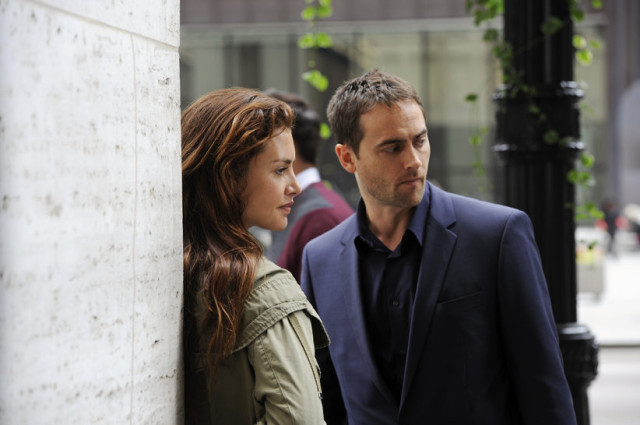 "Hannah Ware and Stuart Townsend in ABC's new drama, ""Betrayal."""