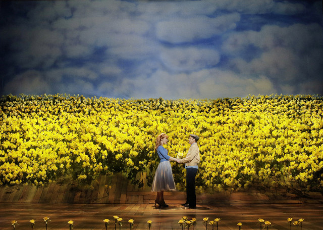 "Kate Baldwin and Norbert Leo Butz in the Broadway musical version of ""Big Fish"""