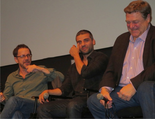 Inside Llewyn Davis: Ethan Coen, Oscar Isaac and John Goodman | Paula Schwartz Photo