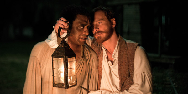 "Chiwetel Ejiofor and Michael Fassbender in ""12 Years a Slave"""