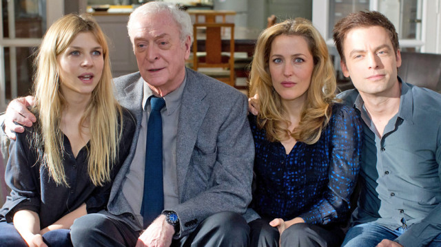 "The core cast of ""Last Love"" - Justin Kirk, Clémence Poésy, Michael Caine, and Gillian Anderson 