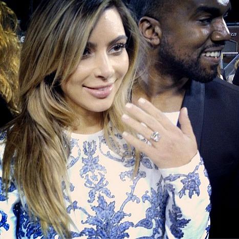 Kim Kardashian and Kanye West Engaged