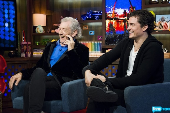 Orlando Bloom, Ian McKellen