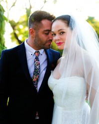 Rose McGowan Wedding Photos