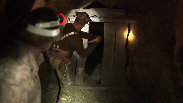 Ghost Mine: Dingus knocks down the bulkhead releasing gold or ghouls?