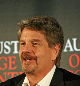 """John Wells at the press conference for """"August: Osage County"""" 