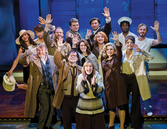 "The company of ""Merrily We Roll Along"""