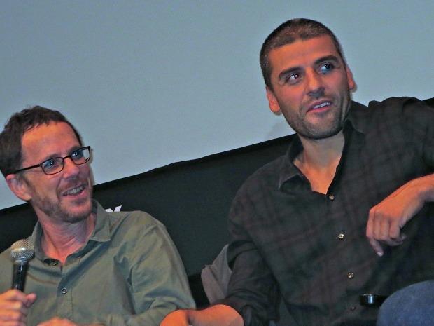 Ethan Coen and Oscar Isaac