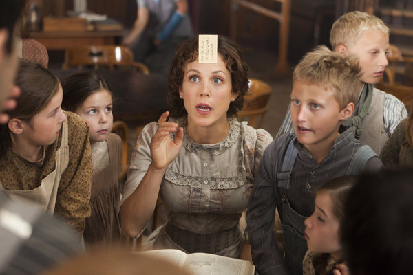 "Erin Krakow as school teacher Elizabeth Thatcher in ""When Calls the Heart"""