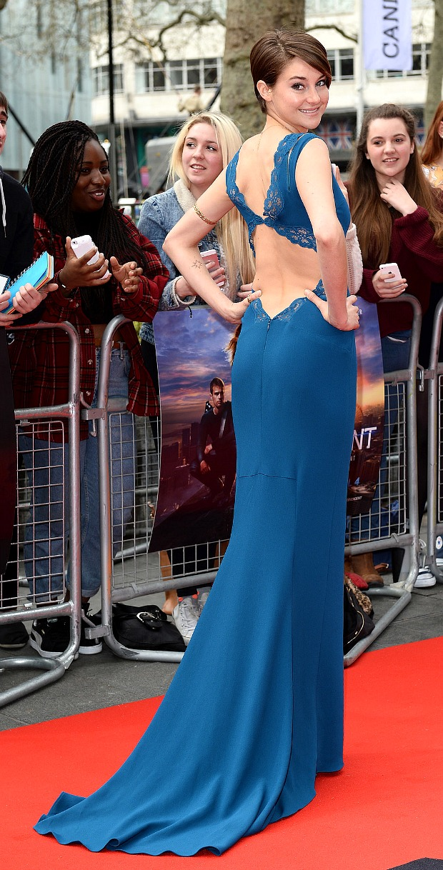 Shailene Woodley at the Divergent London Premiere