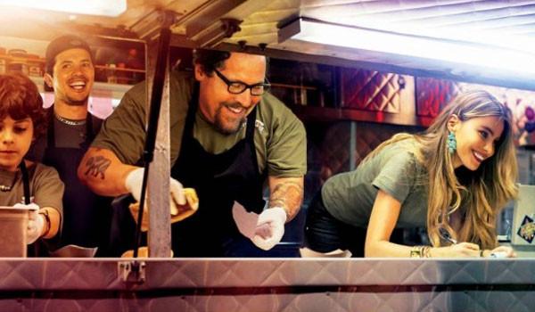 """Emjay Anthony, John Leguizamo, Jon Favreau, and Sofia Vergara in """"Chef"""""""