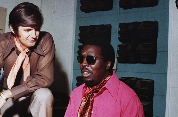 Rick Hall and Clarence Carter at FAME Recording Studios in Muscle Shoals
