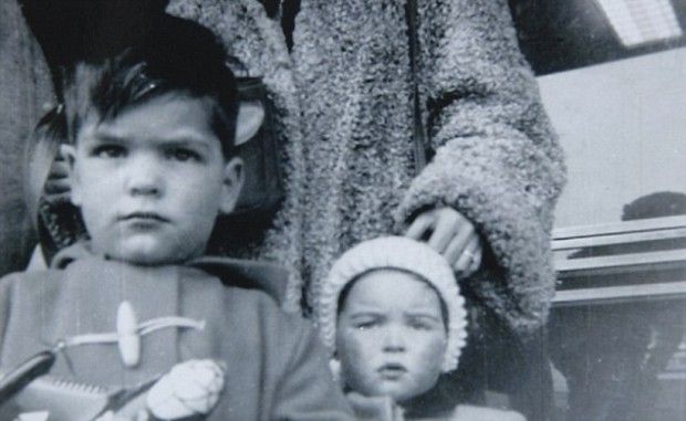Philomena's son, Anthony, in 1955 and Mary, the little girl who was adopted with him.