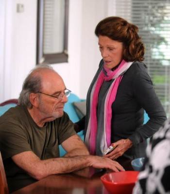 """Harris Yulin and Linda Lavin in """"A Short History of Decay"""""""
