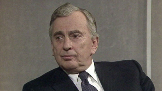 "Gore Vidal in his younger days in ""Gore Vidal: The United States of Amnesia"""