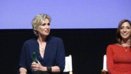 "Jane Lynch as ""the Worried Woman"""