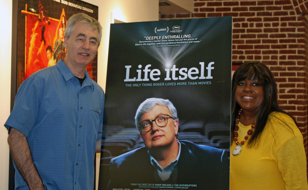 Steve James and Chaz Ebert Melanie Votaw Photo