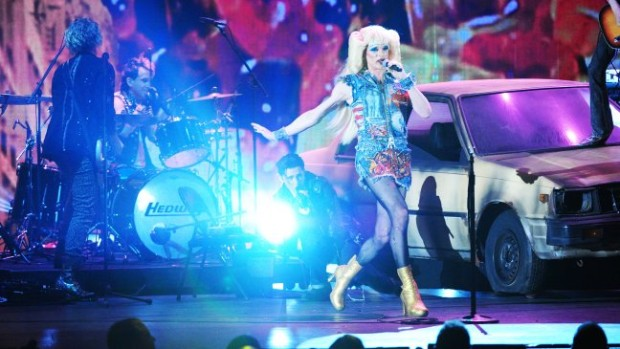 "Neil Patrick Harris performs a number from ""Hedwig and the Angry Inch"""