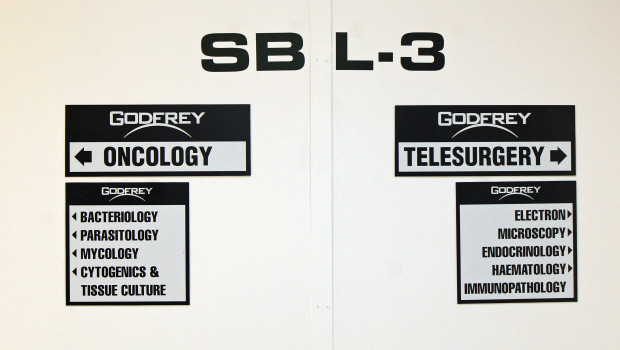 Signs on the set of Godfrey's White Tower | Melanie Votaw Photo