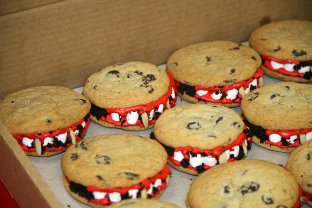 Netflix treated the journalists visiting the set with vampire cookies | Melanie Votaw Photo