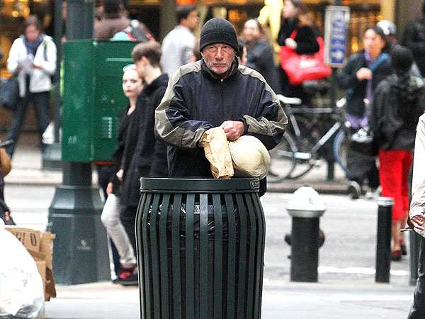 "Richard Gere as a homeless man in ""Time Out of Mind"""