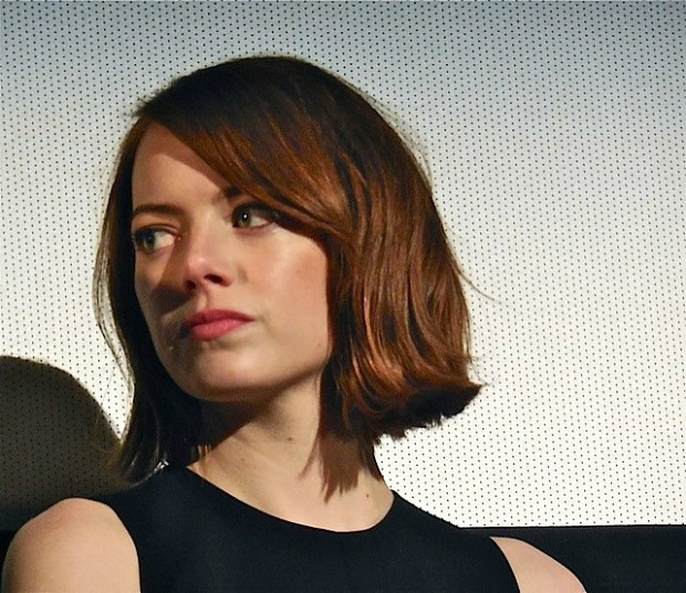 "Emma Stone at the ""Birdman"" press conference in NYC 