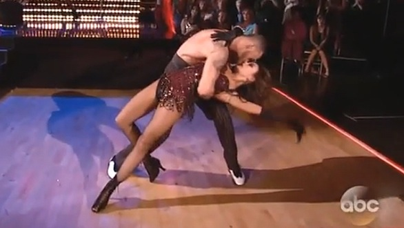 Janel and Artem Burlesque DWTS