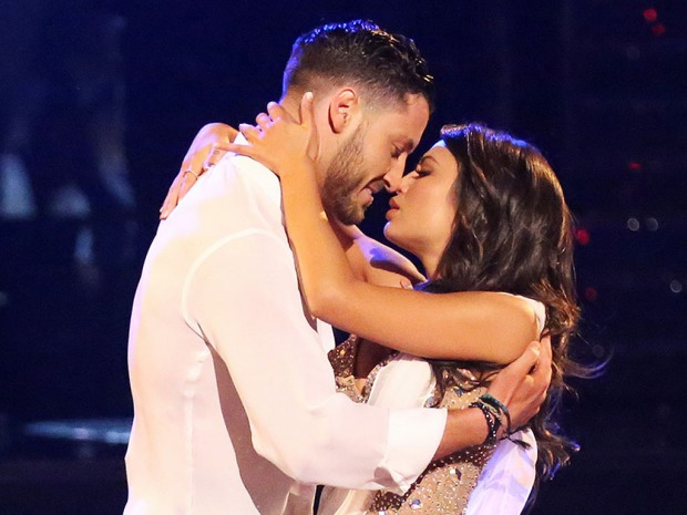 "Janel Parrish and Val Chmerkovskiy on ""Dancing With the Stars"""
