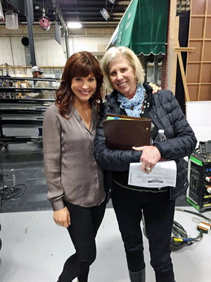 "Moniqua Plante and Callie Khouri on the set of ""Nashville"""