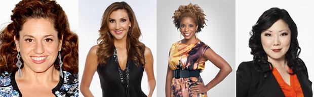 "The co-hosts of TLC's ""All About Sex"" - Marissa Jaret Winokur, Heather McDonald, Dr. Tiffanie Davis Henry, and Margaret Cho."