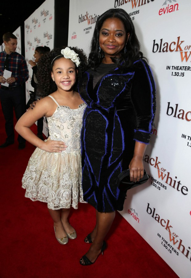 "Jillian Estell and Octavia Spencer seen at Relativity Studios Los Angeles Premiere of ""Black or White"" held at Regal Cinemas on Tuesday, Jan 20, 2015, in Los Angeles. (Photo by Eric Charbonneau/Invision for Relativity Studios/AP Images)"