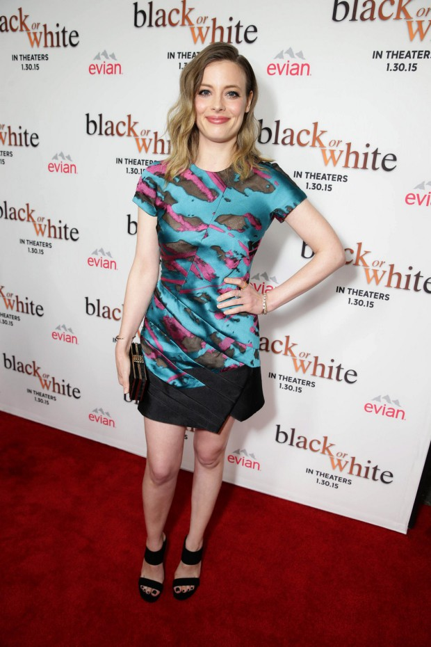 "Gillian Jacobs seen at Relativity Studios Los Angeles Premiere of ""Black or White"" held at Regal Cinemas on Tuesday, Jan 20, 2015, in Los Angeles. (Photo by Eric Charbonneau/Invision for Relativity Studios/AP Images)"