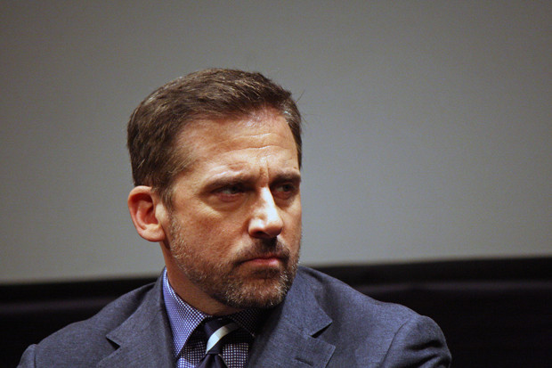 "Steve Carell at the ""Foxcatcher"" press conference at the 2014 New York Film Festival 