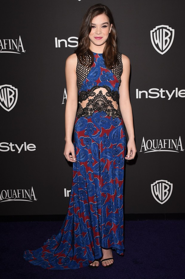 BEVERLY HILLS, CA - JANUARY 11:  Actress Hailee Steinfeld attends the 2015 InStyle And Warner Bros. 72nd Annual Golden Globe Awards Post-Party at The Beverly Hilton Hotel on January 11, 2015 in Beverly Hills, California.  (Photo by Jason Merritt/Getty Images);  sent to Reel Life With Jane by and used with permission of Slate PR.