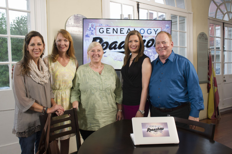 On Genealogy Roadshow, Graham McDougal and genealogist Mary Tedesco