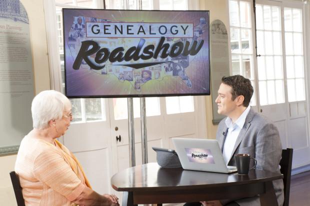 Patricia Parrish and genealogist Joshua Taylor on Genealogy Roadshow