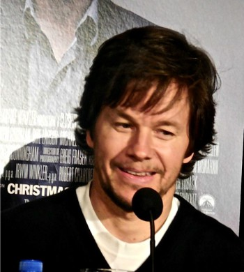 "Mark Wahlberg at a press conference for ""The Gambler"" 