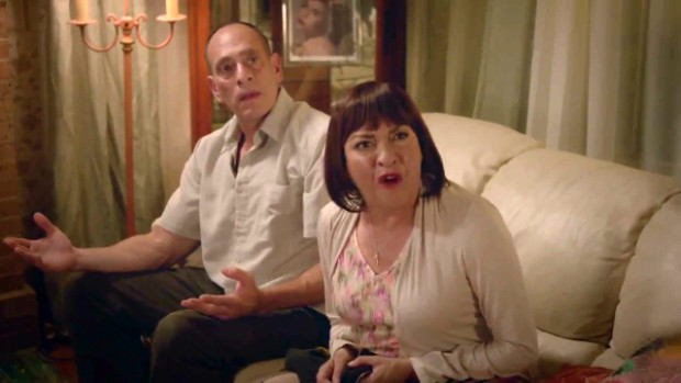 "Nestor Serrano and Elizabeth Pena in ""Ana Maria in Novela Land"""