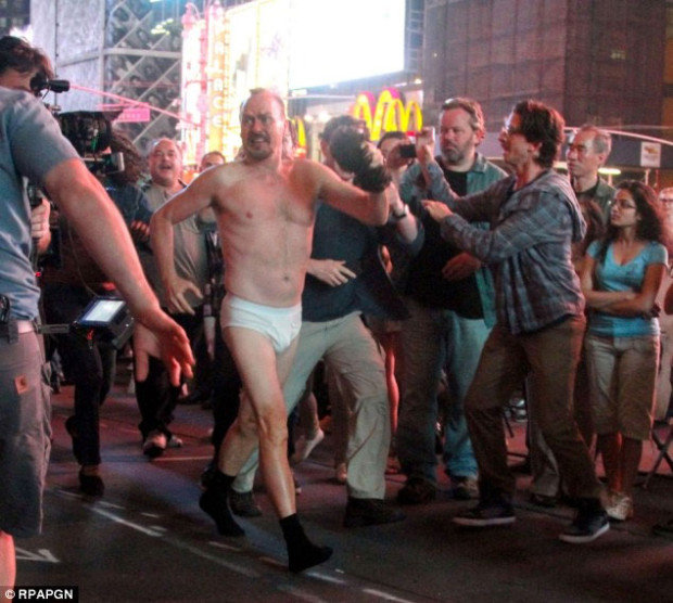 "Michael Keaton in a still from ""Birdman or The Unexpected Virtue of Ignorance"""