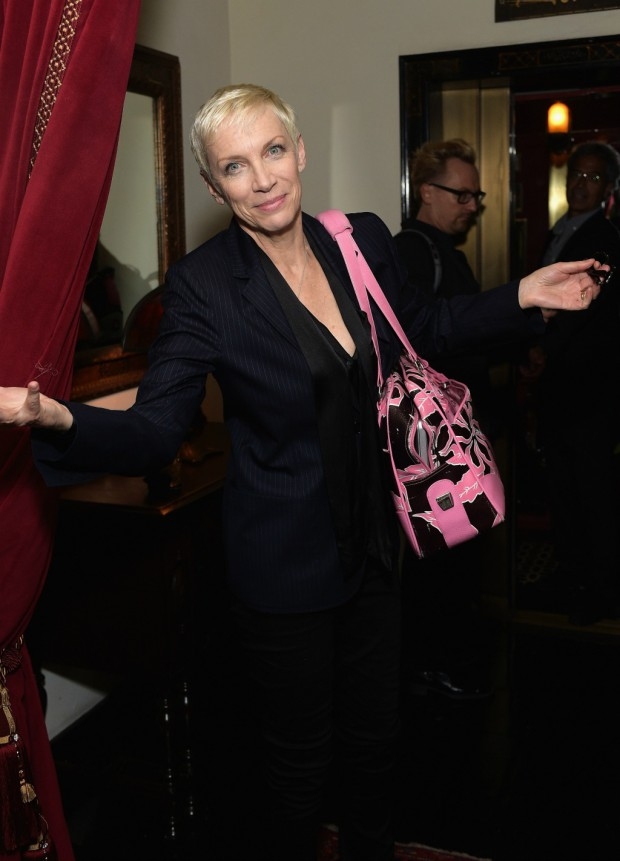 LOS ANGELES, CA - FEBRUARY 08: Singer/songwriter Annie Lennox attends the Warner Music Group annual Grammy celebration at Chateau Marmont on February 8, 2015 in Los Angeles, California. (Photo by Stefanie Keenan/Getty Images for Warner Music Group via SlatePR and Image.net)